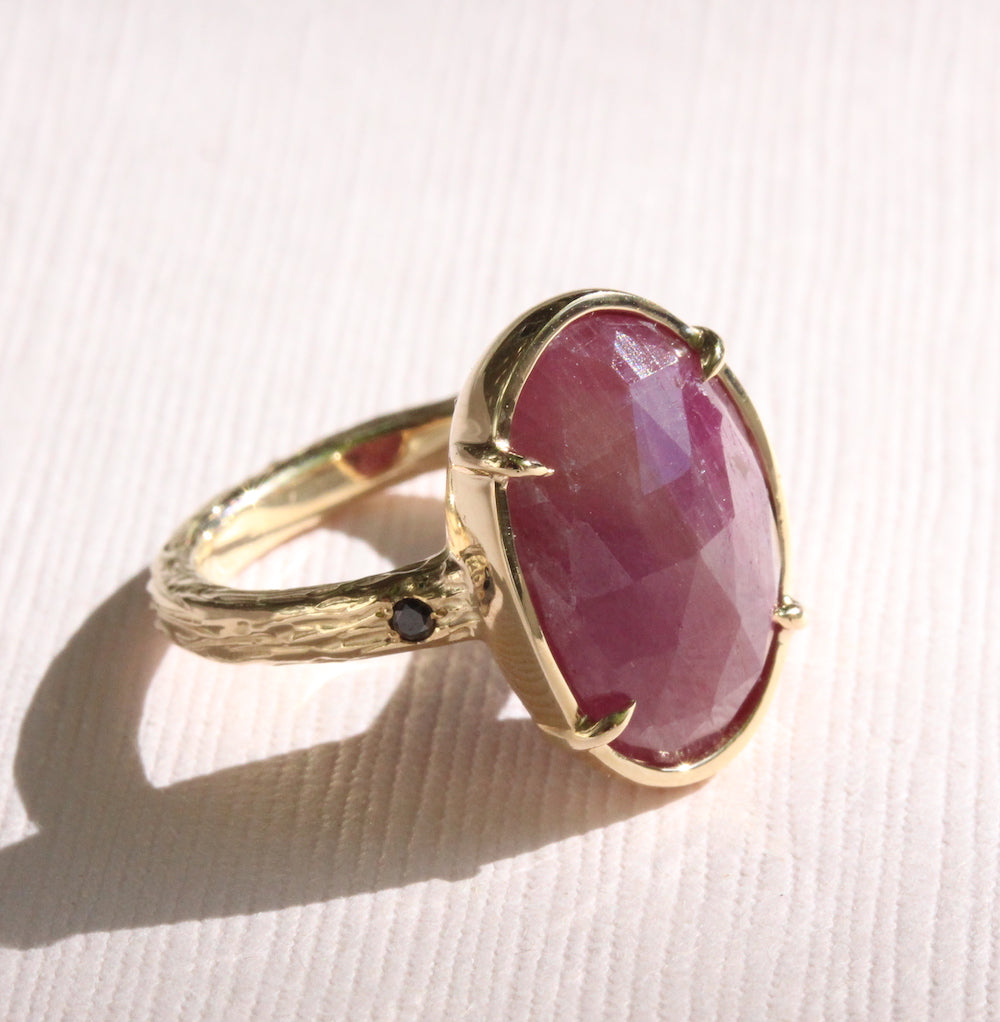 Ruby Rosecut Ring