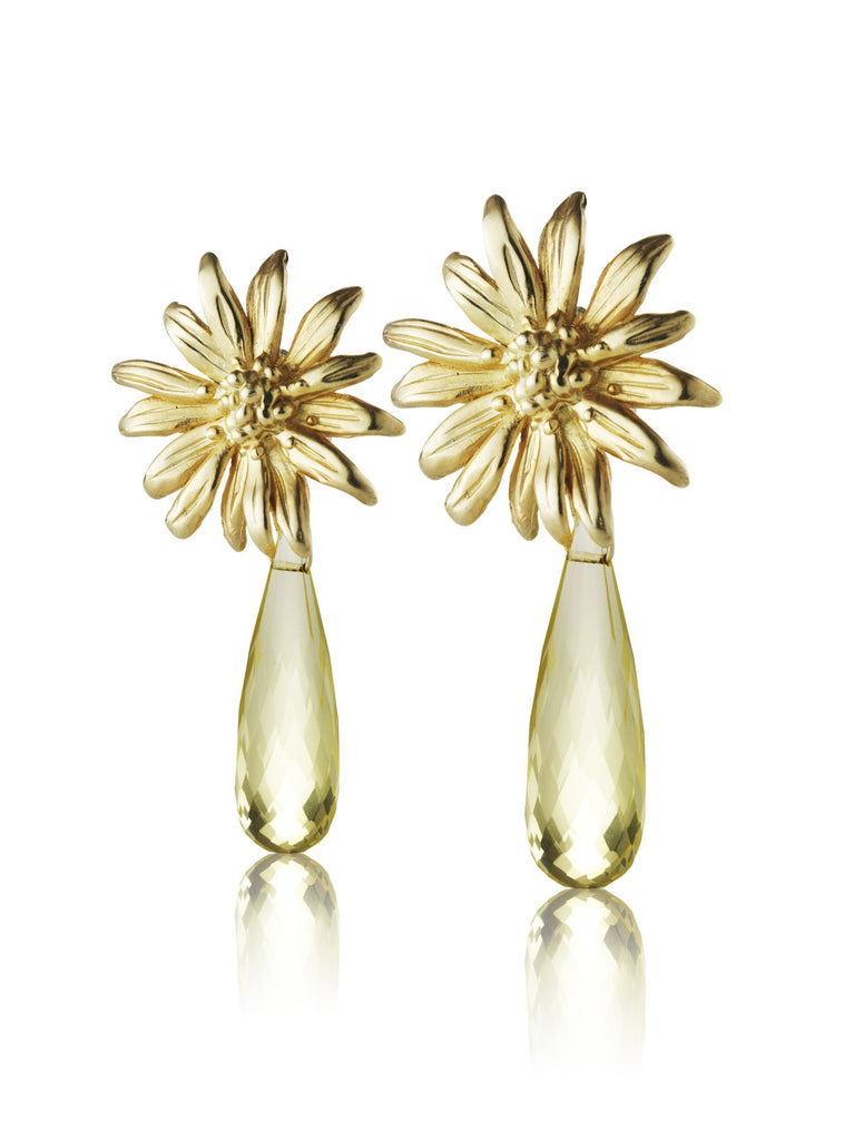 Wildflower- Daisy studs with drop - Kathryn Rebecca