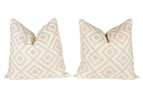 Light Gray Hicks Fiorentina Pillows, Pair