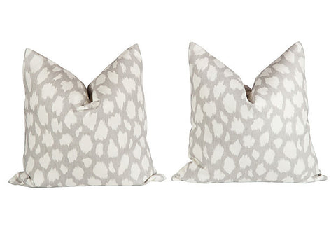 Leopard Leokat Pattern Pillows, Pair