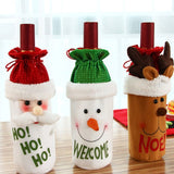 1PC Cute Christmas Red Wine Bottle Cover Bags