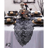 Lace Black Spider Web Halloween Decoration For Home Halloween Party Decoration Rectangle