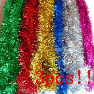 3pcs!!! Christmas Ribbon Garland Christmas Tree Hanging Ornaments 2 Meters / Dec