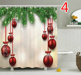 Christmas decorations Bee Show shower curtains, multi-element design 100% polyester fiber wate