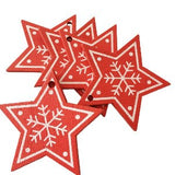 10Pcs/Set Luxury Christmas Tree Ornament Wooden Hanging Pendants Angel Snow Bell Elk Star Christmas Decorations Home #289513