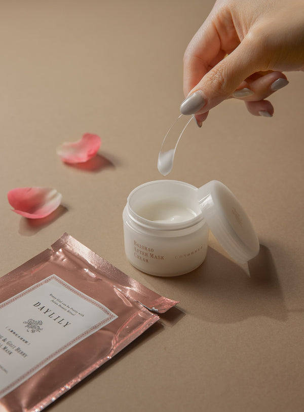 Facial Mask & After Cream Set ~ 人蔘枸杞