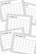 printed calendars with border of circles that you can color in