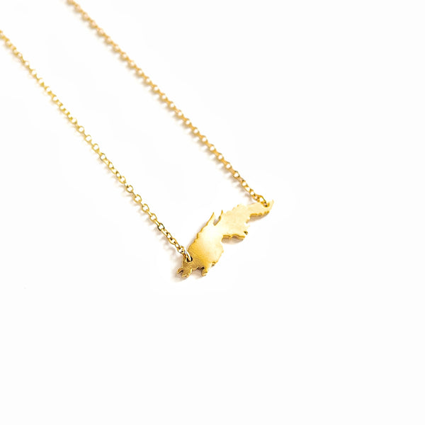 St. Thomas Map Necklace