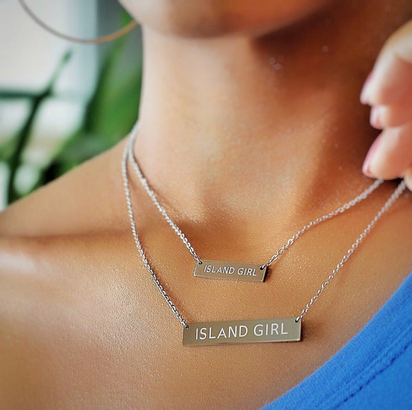 Original Island Girl Silver (Wide Bar)