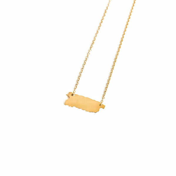 Puerto Rico Map Necklace