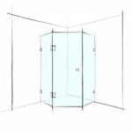 FRAMELESS – HEX CORNER SET-IN