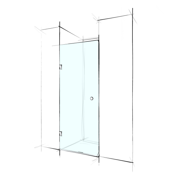 Custom Frameless Wall-To-Wall (Swing Door)