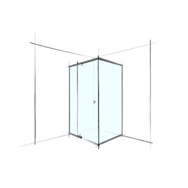 AGED CARE CUSTOM SEMI-FRAMELESS SQUARE CORNER SET-IN - PREZZO A PARTIRE DA