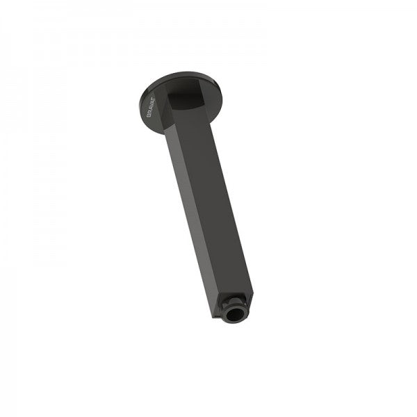 BRAVAT SQUARE CEILING SHOWER ARM 200MM – MATT BLACK