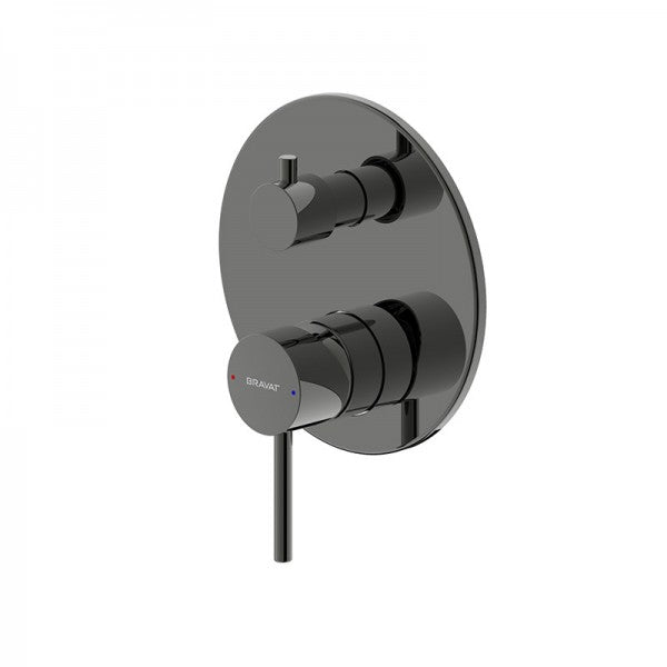 BRAVAT ARC SHOWER & BATH DIVERTER MIXER – MATT BLACK