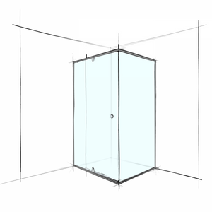 SEMI FRAMELESS – SQUARE CORNER SET-IN