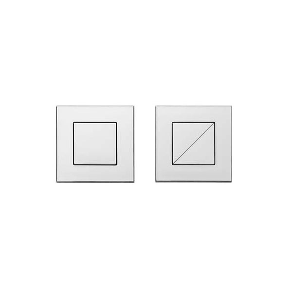 REMOTE SQUARE FLUSH BUTTONS – CHROME / SATIN CHROME