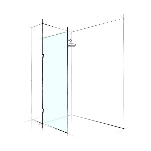 Verotti Home ( Standard ) Frameless Fixed Panel
