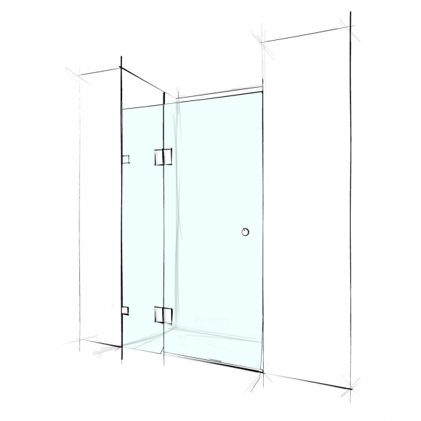 FRAMELESS – WALL TO WALL 2 PANELS - PRICE STARTING FROM