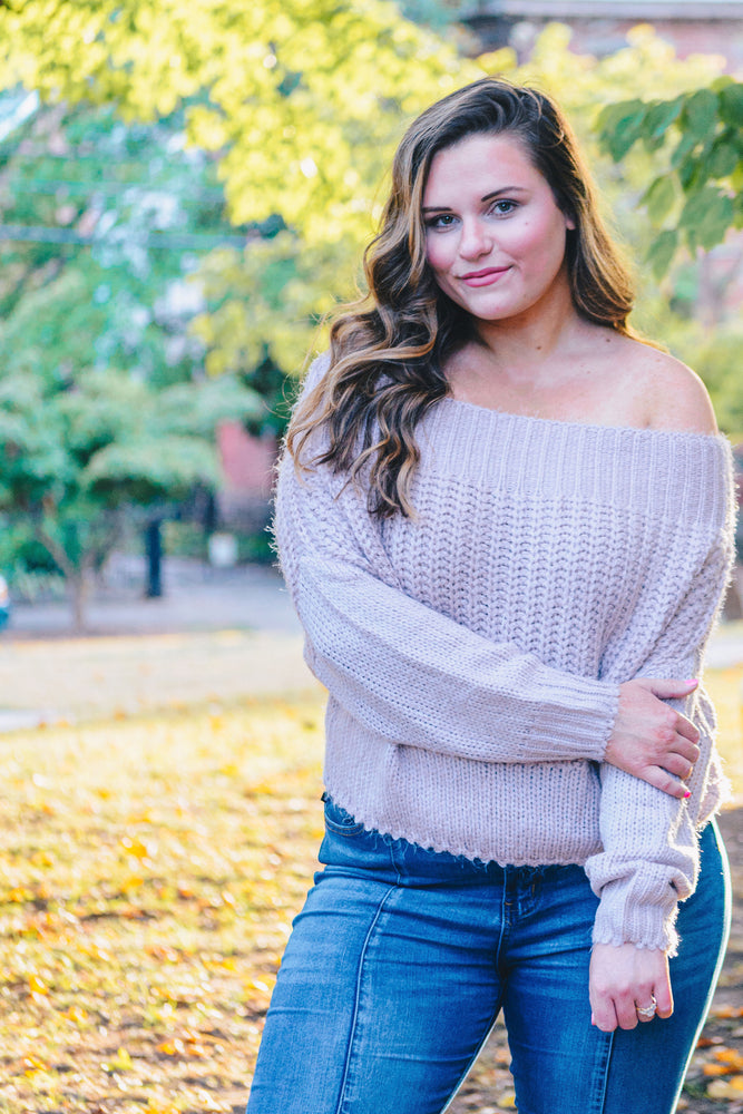 Shop FLAWLESS MAUVE SWEATER -- As You Go Boutique