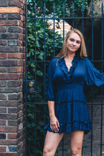 Shop NAVY RUFFLE DRESS -- As You Go Boutique