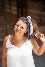 Shop WELLINGTON SCARF IN NAVY -- As You Go Boutique