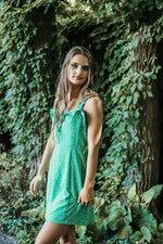 SUMMER VACAY DRESS IN GREEN/WHITE