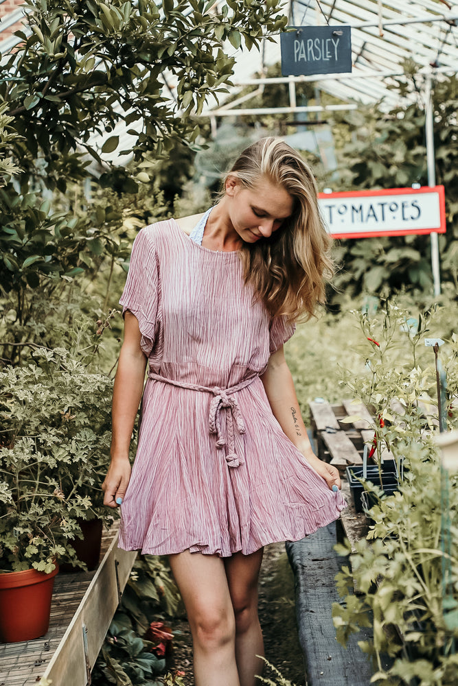 FRESH START DRESS IN DUSTY BLUSH