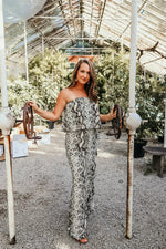 FRIDAY NIGHT JUMPSUIT IN SNAKESKIN