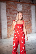 Shop HAPPY HOUR JUMPSUIT IN RED -- As You Go Boutique