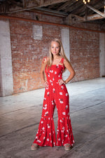 HAPPY HOUR JUMPSUIT IN RED