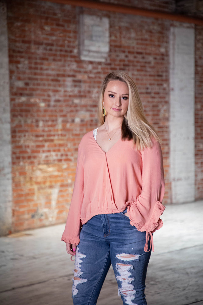 Shop MAKING MEMORIES BLOUSE IN PINK BLUSH -- As You Go Boutique
