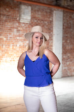 TOTAL BLUES TANK IN BLUE - As You Go Boutique