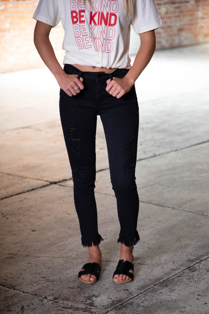 Shop ALEX FRAY JEANS IN BLACK -- As You Go Boutique