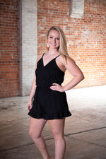 RISE UP ROMPER IN BLACK