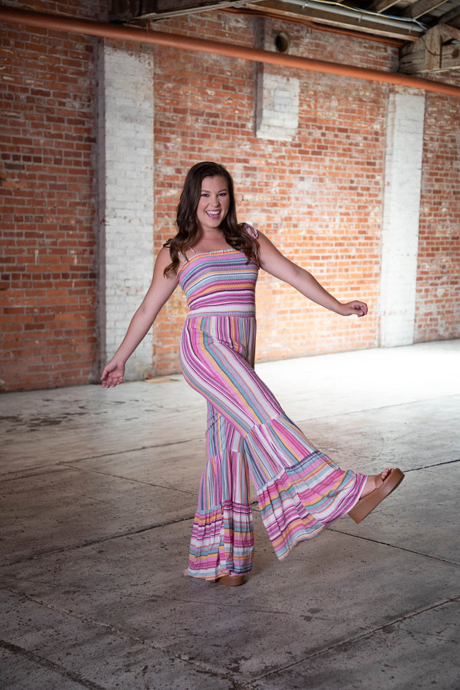Shop RAINBOW ROAD JUMPSUIT -- As You Go Boutique