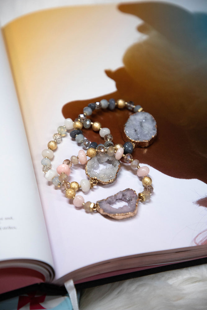 Shop GEMMA STONE BRACELET -- As You Go Boutique