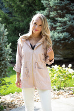 Shop BAYSIDE CARGO JACKET IN BLUSH -- As You Go Boutique