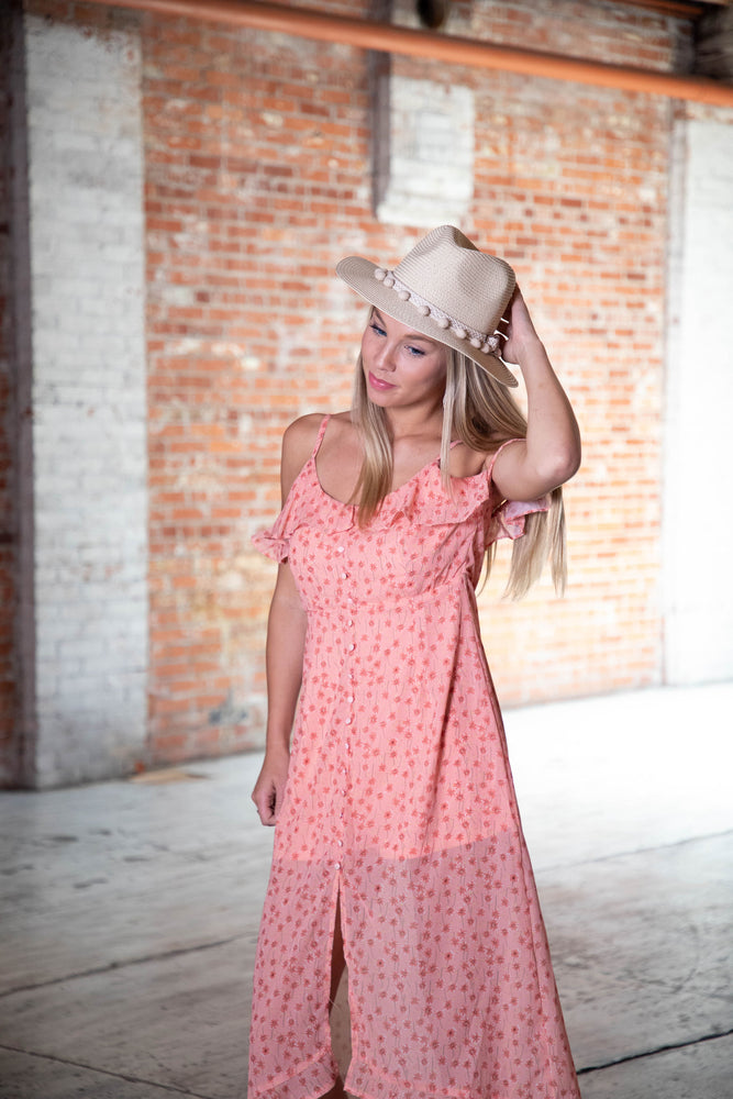 Shop FLAWLESS FLORAL MAXI DRESS IN DUSTY ROSE -- As You Go Boutique