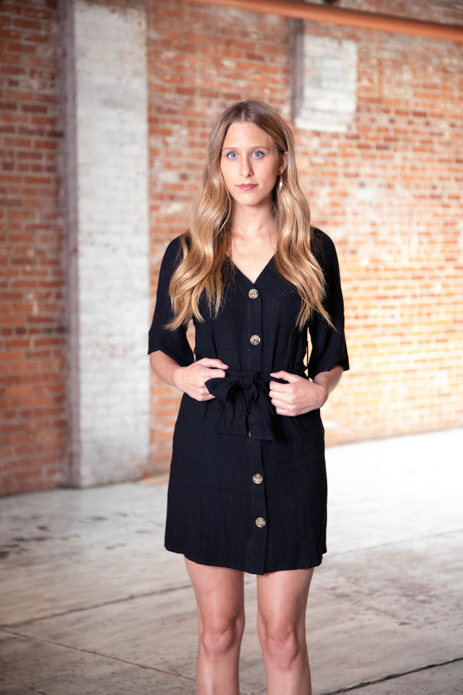RIGHT TRACK DRESS IN BLACK