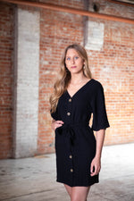 Shop RIGHT TRACK DRESS IN BLACK -- As You Go Boutique