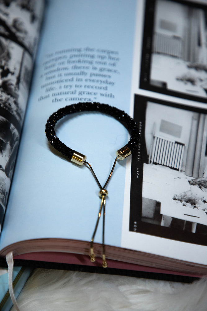 Shop SOHO GLITTER BRACELET IN BLACK -- As You Go Boutique