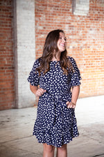 Shop DOWN TO BUSINESS DRESS IN NAVY -- As You Go Boutique