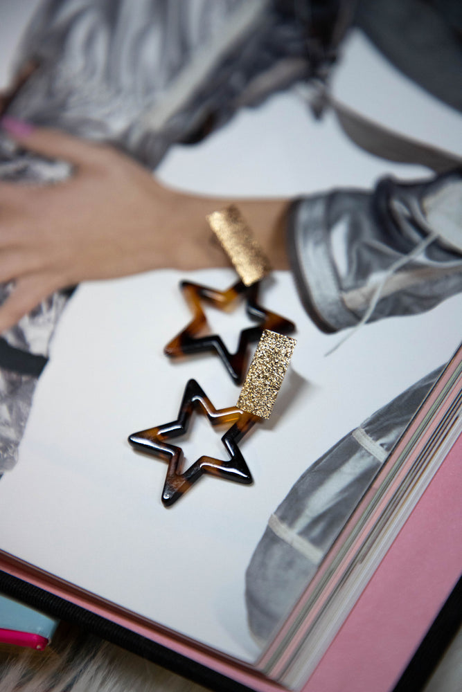 Shop BRIGHT STAR EARRINGS IN GOLD/TORTOISE -- As You Go Boutique