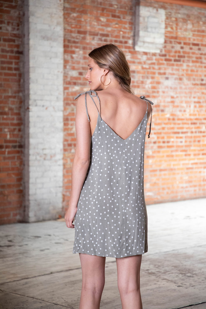 Shop DOTTIE DRESS IN GREEN -- As You Go Boutique