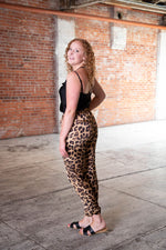 Shop LEOPARD LOVE SATIN JOGGER PANTS -- As You Go Boutique