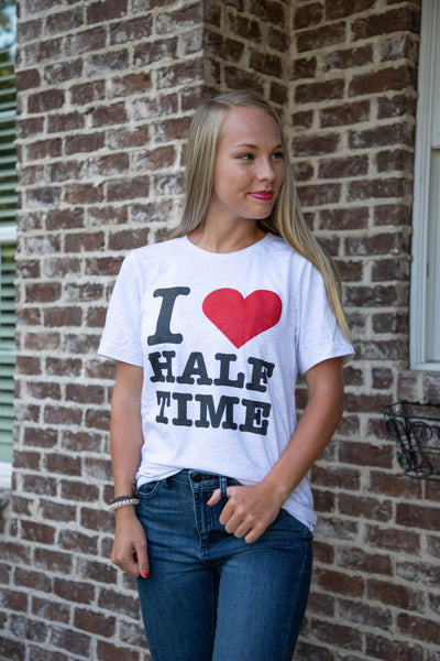 Shop I LOVE HALF TIME TEE -- As You Go Boutique