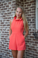 PARADISE ROMPER IN POPPY