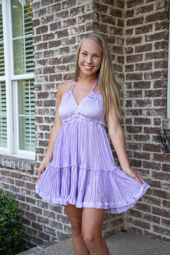 Shop STARLIGHT DRESS IN LAVENDER -- As You Go Boutique