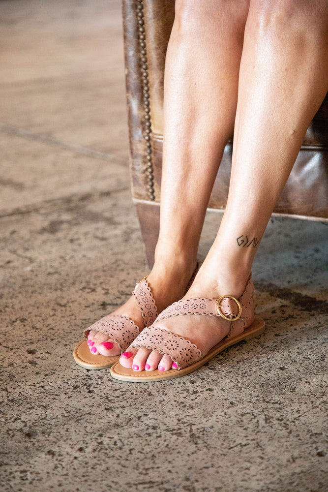 Shop BLAIR CUTOUT SANDALS IN DUSTY ROSE -- As You Go Boutique